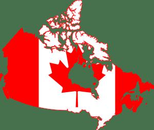 Noord_Amerika_Canada_kaart_vlag_reiseditie