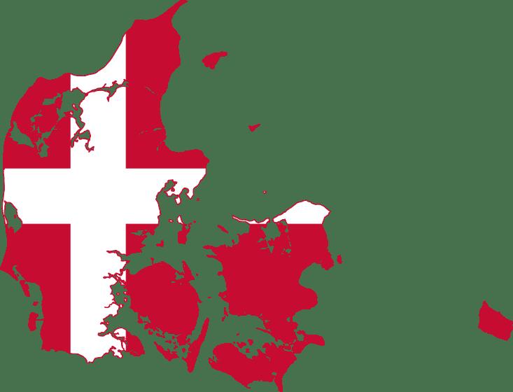 Denemarken_Vlag_kaart_reiseditie