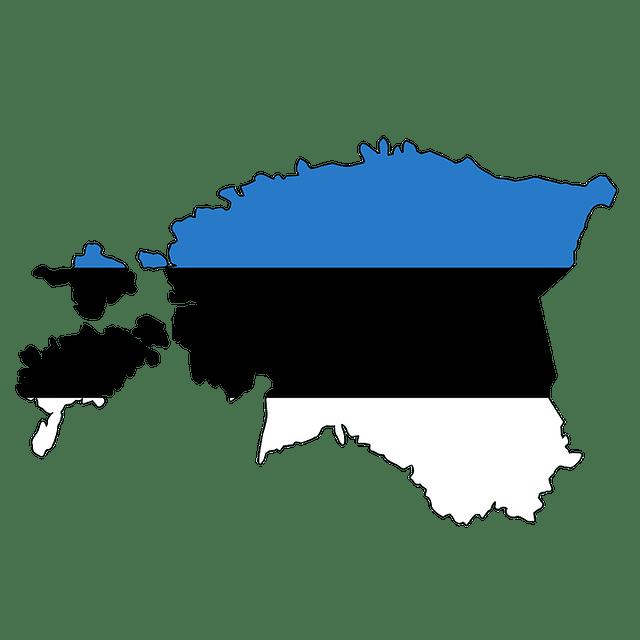 Estland_Estonia_Vlag_Kaart_Reiseditie