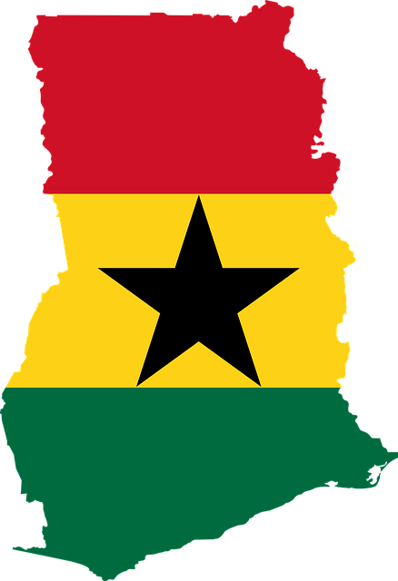 Landenoverzicht_Ghana_Vlag_Map_Kaart_Reiseditie