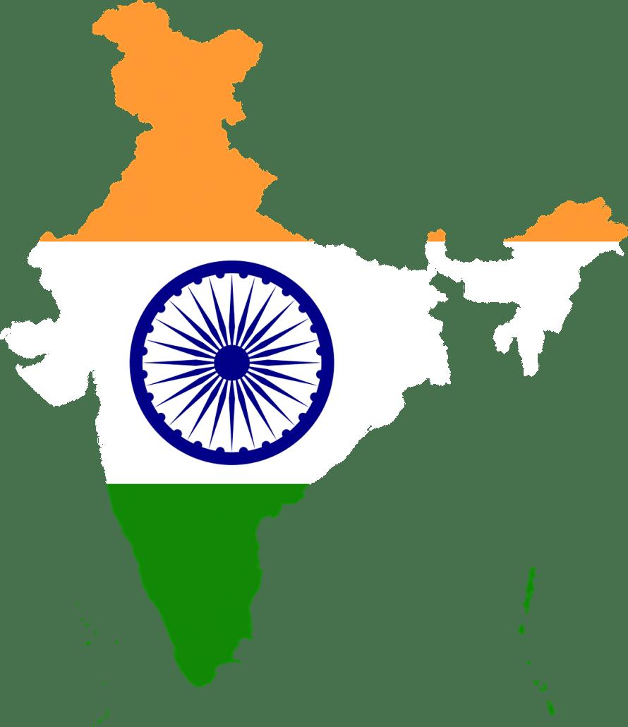 Overzicht_India_Reiseditie_Map_Kaart_Vlag