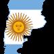 Argentinie Kaart Land Map Vlag Landenoverzicht reiseditie 80x80 - Zuid-Amerika