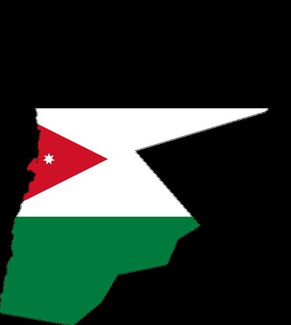 Jordanië_Vlag_Map_Kaart_Reisedtie