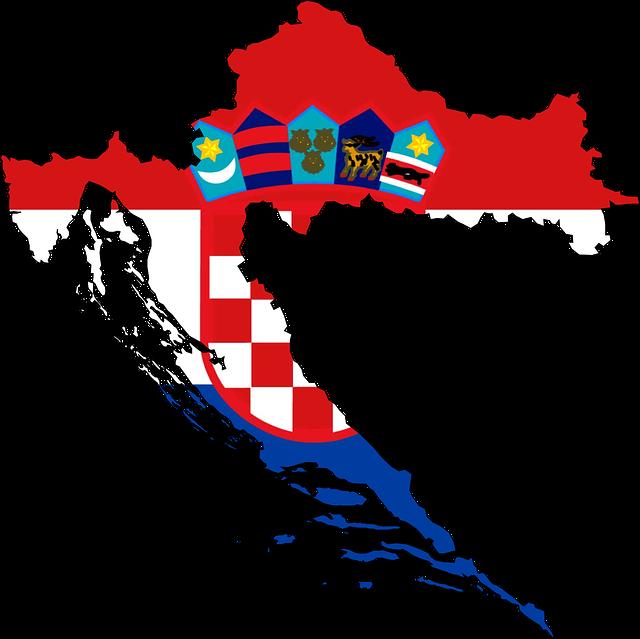 Vlag van Kroatie voor de homepagina