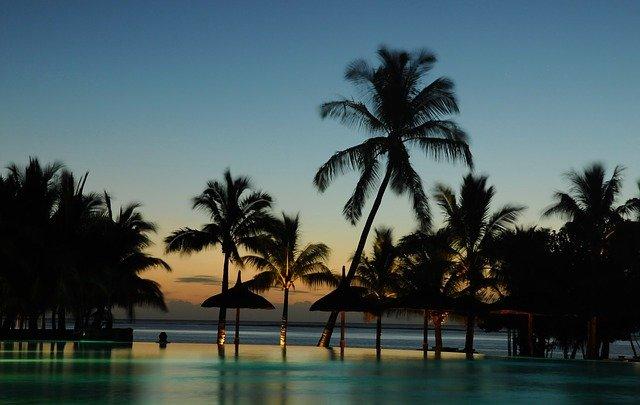 Mauritius_Klimaat_Reiseditie_palmbomen_ondergaande_zon