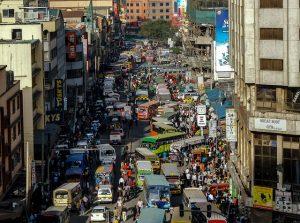 Straat in Nairobi Reiseditie Landenoverzicht Kenia