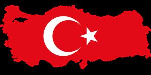 Vlag map en kaart van Turkije op Reiseditie