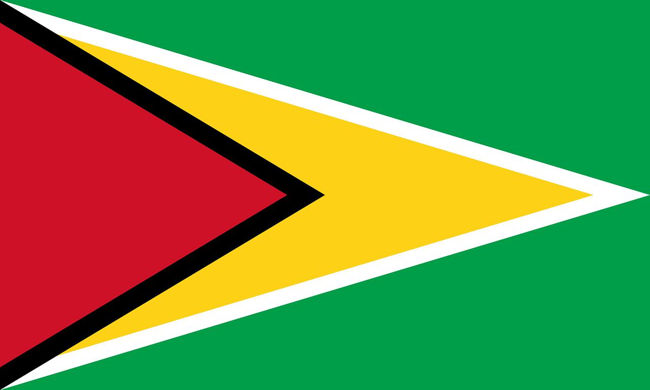 Landenoverzicht_Vlag_Map_Kaart_Guyana_Reiseditie_landeninformatie
