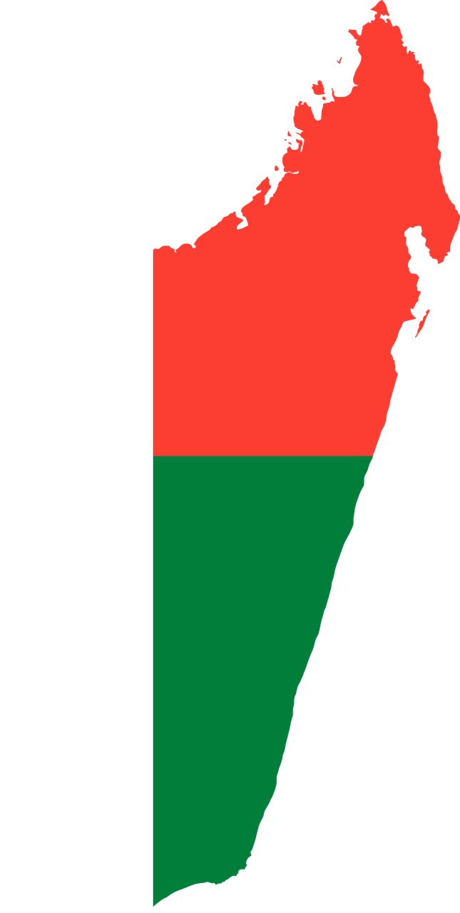 Madagaskar_Vlag_Map