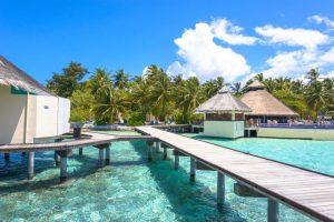 Malediven_Uitzicht_Blauw_Water_Hutje_Strand