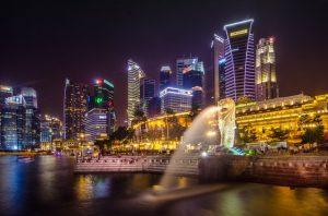 Singapore_Stad_Lichten_Skyline_Gebouwen
